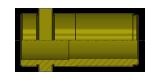 BUSSOLA GUIDA SPALLATA BRONZO EUROPEA cod. T10B