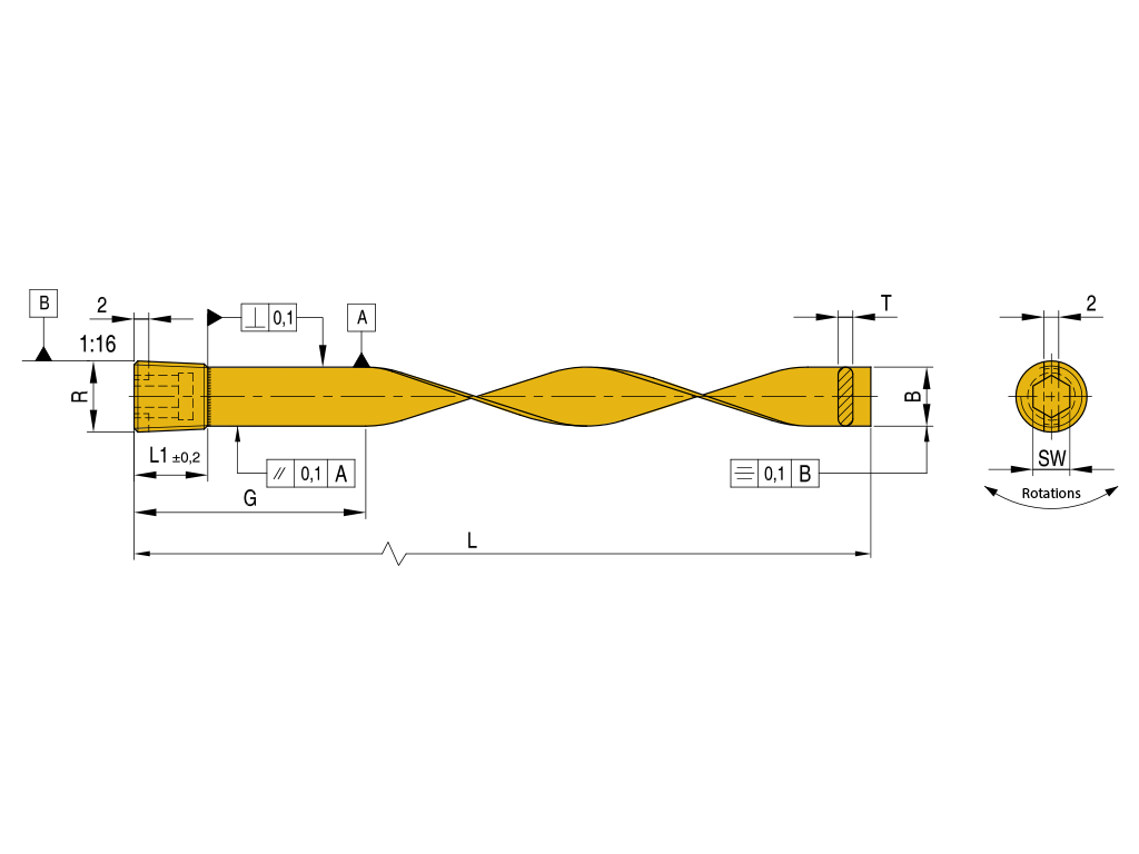 raffreddatori in ottone a spirale BBS