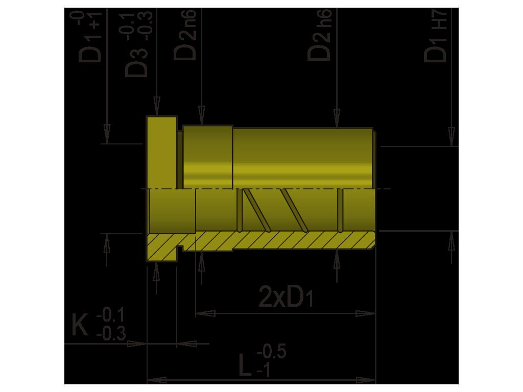 bussola guida bronzo integrale EB1B