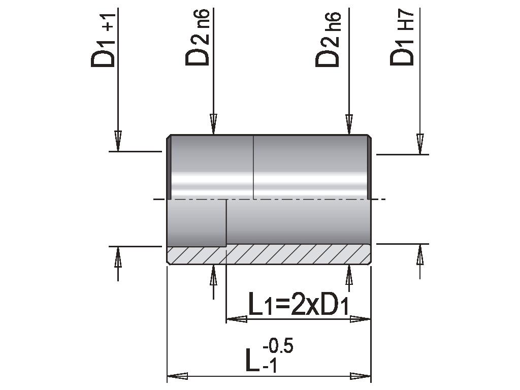 bussola guida liscia EB2