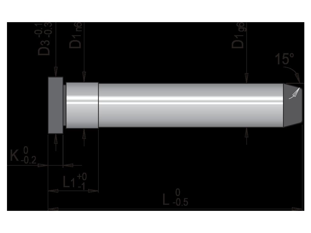 colonna guida un diametro liscia EC2L