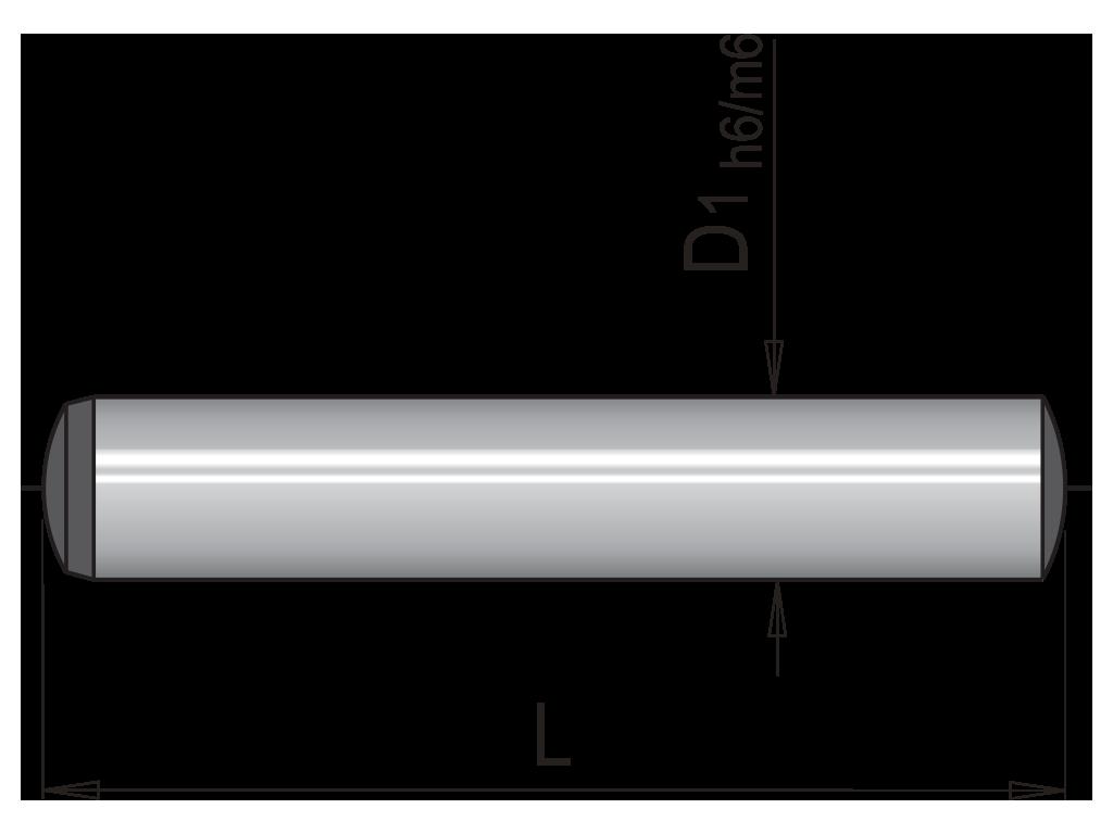 spine cilindriche  din 6325 SC
