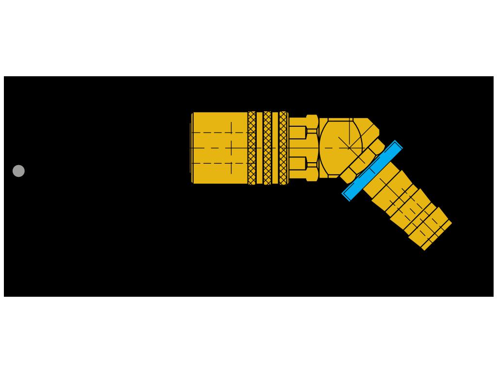 """attacchi rapidi 45° con valvola """"push-to-lock"""" SVK-PL-45°"""