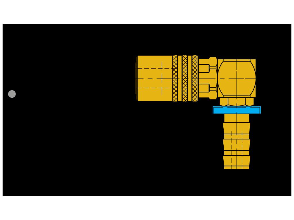 """attacchi rapidi 90° con valvola """"push-to-lock"""" SVK-PL-90°"""