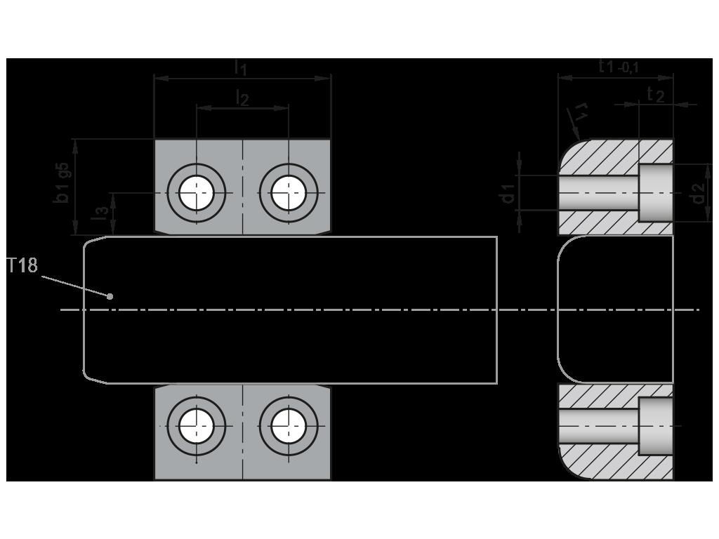 guance guida colonna quadra T19