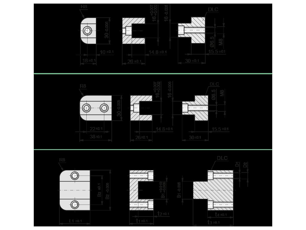 centraggi fissaggio da sopra T51