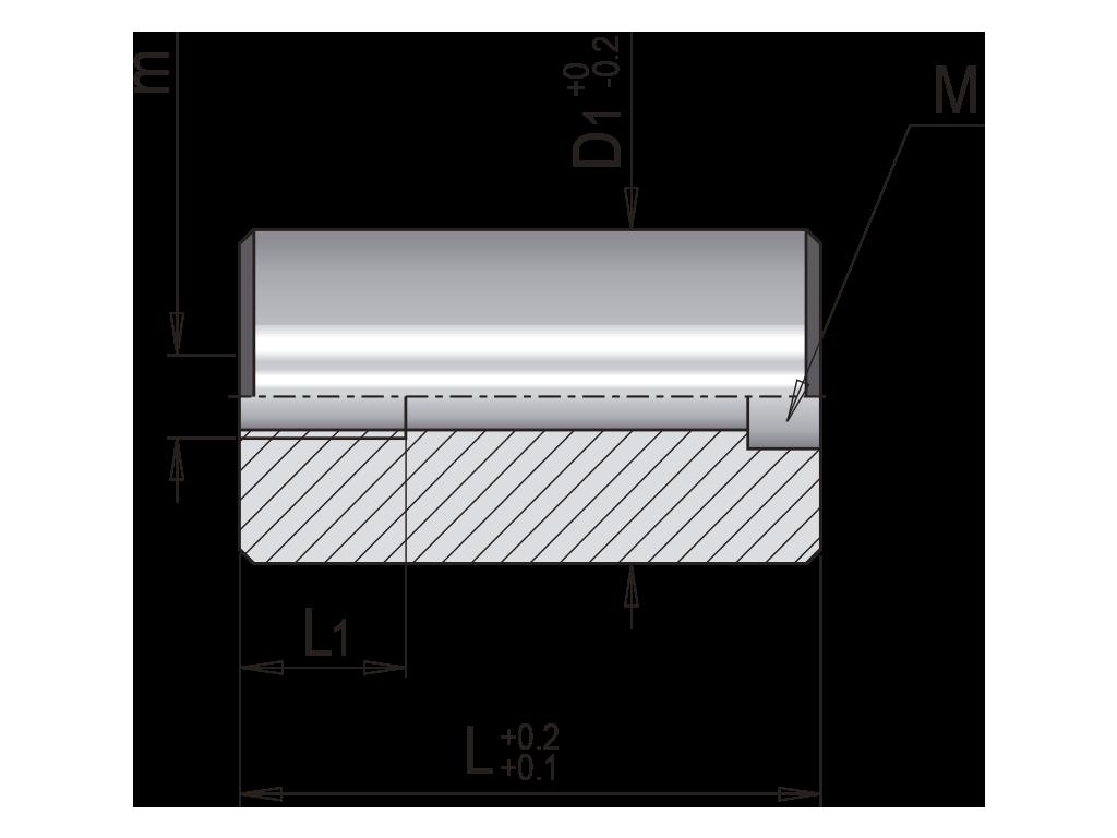 distanziale cilindrico T571