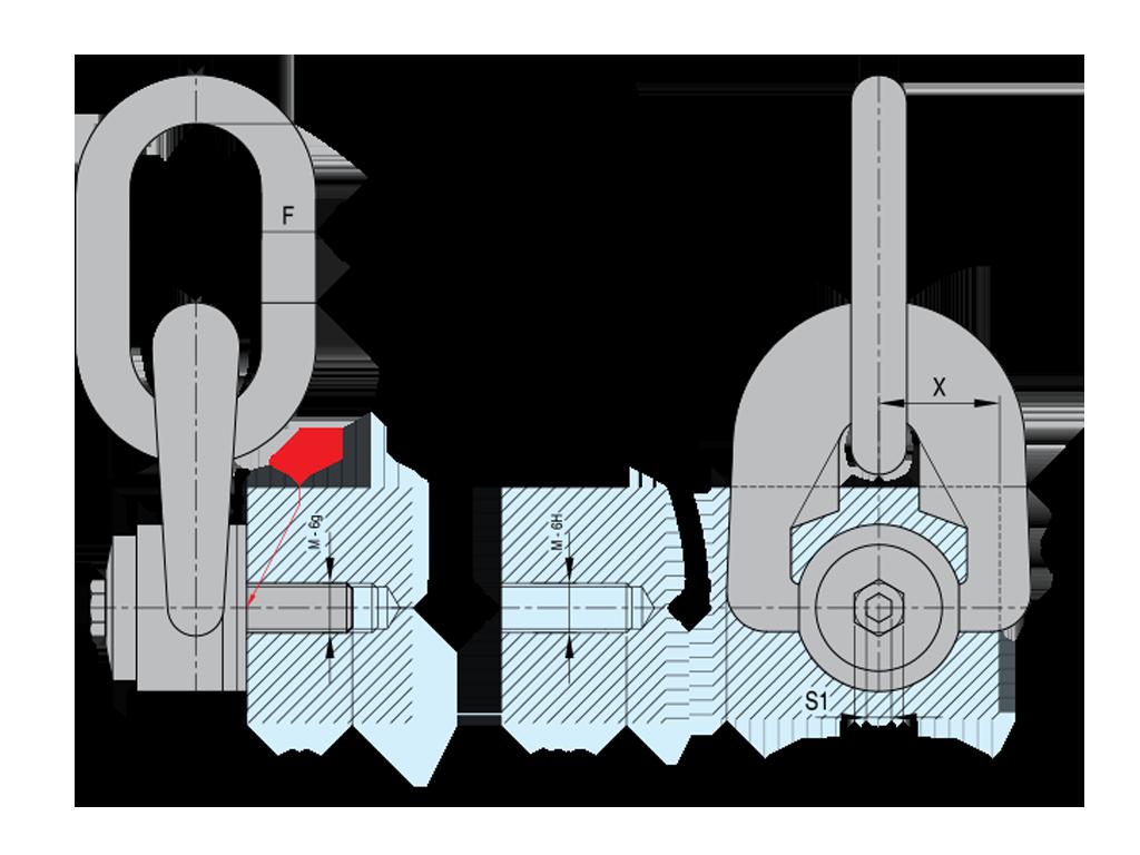 grillo con tripla articolazione TSR