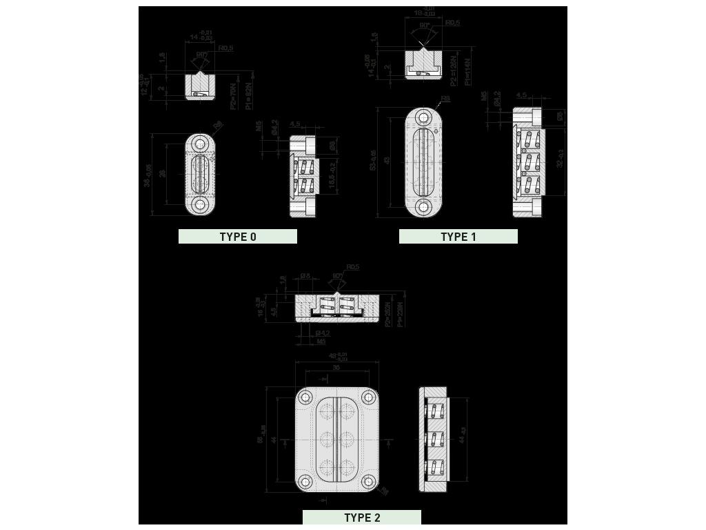 dispositivi di scorrimento Z5140