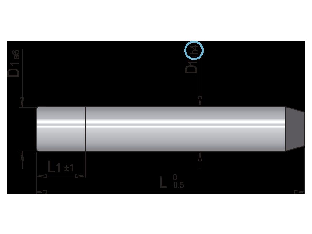 colonna guida senza testa EC4