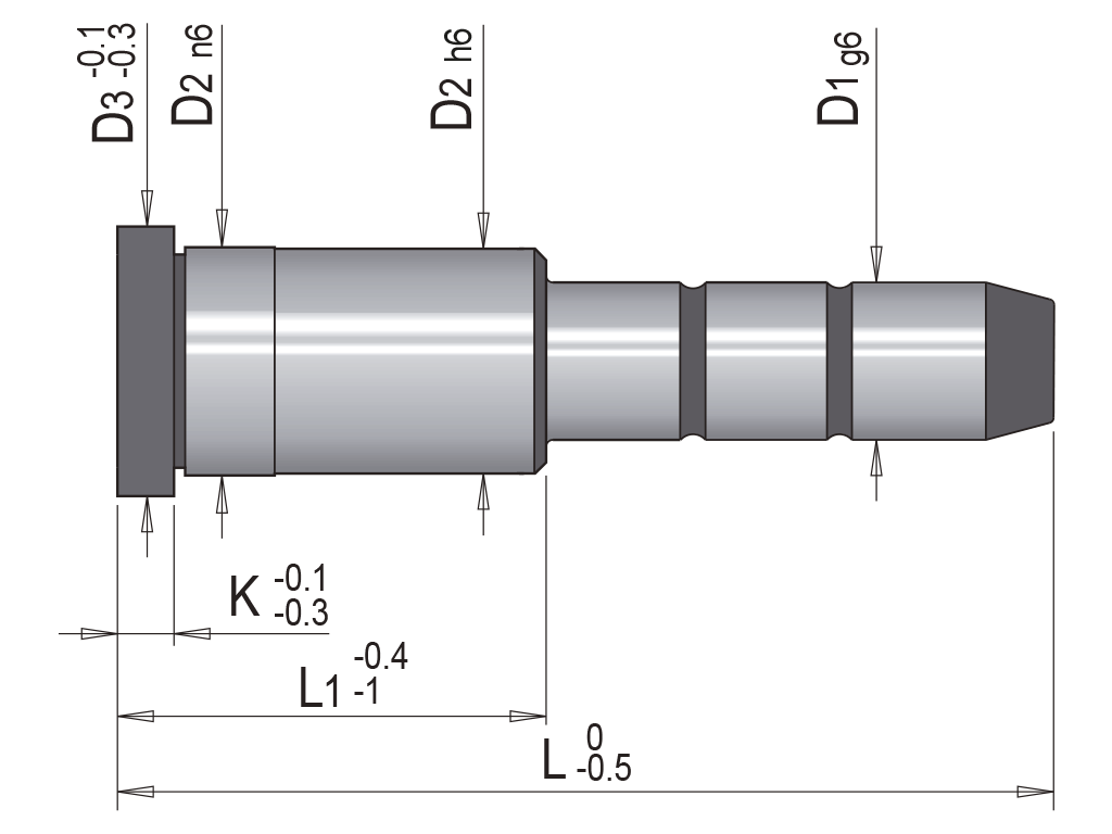 colonna guida due diametri EC1