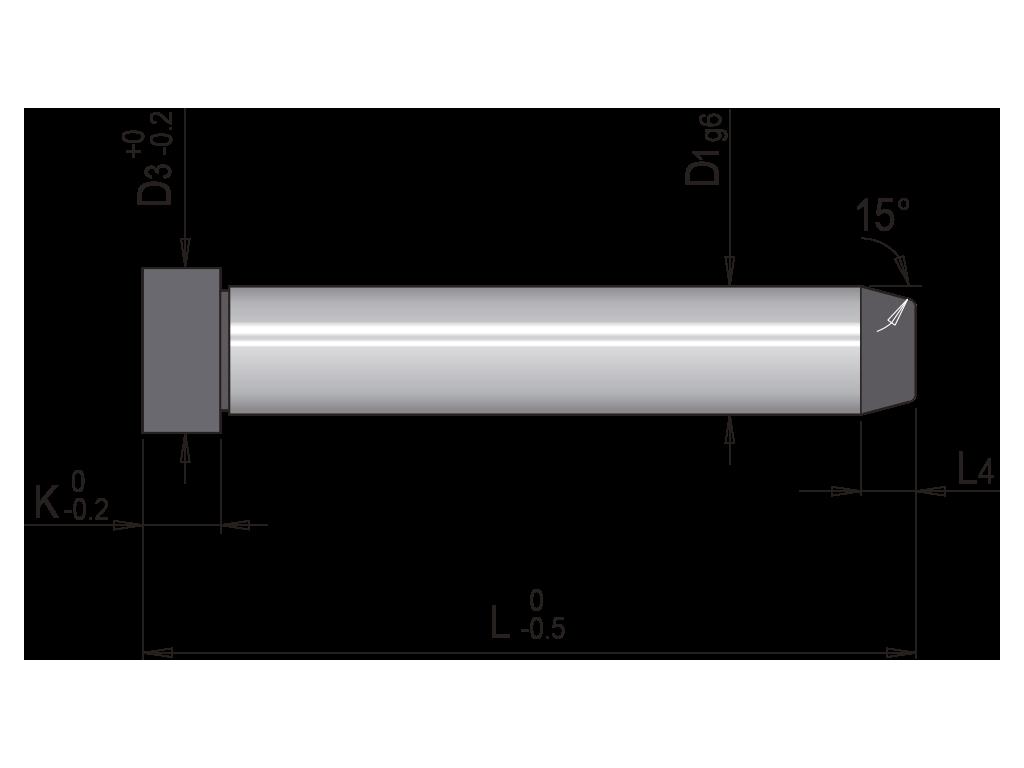 colonna guida un diametro liscia europea T01